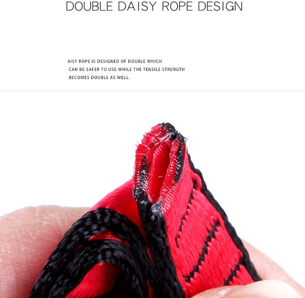 Outdoor Climbing pe Climbing Auxiliary pe Downhill Aerial Yoga Hammock Daisy Ring Sling Equipment Wear Ring Outdoor Tools 1.1mRed