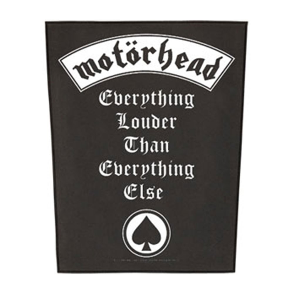 Motorhead Back Patch Everything Louder band logo new Official (36cm x 29cm) Officially Liscenced Product 96570-1