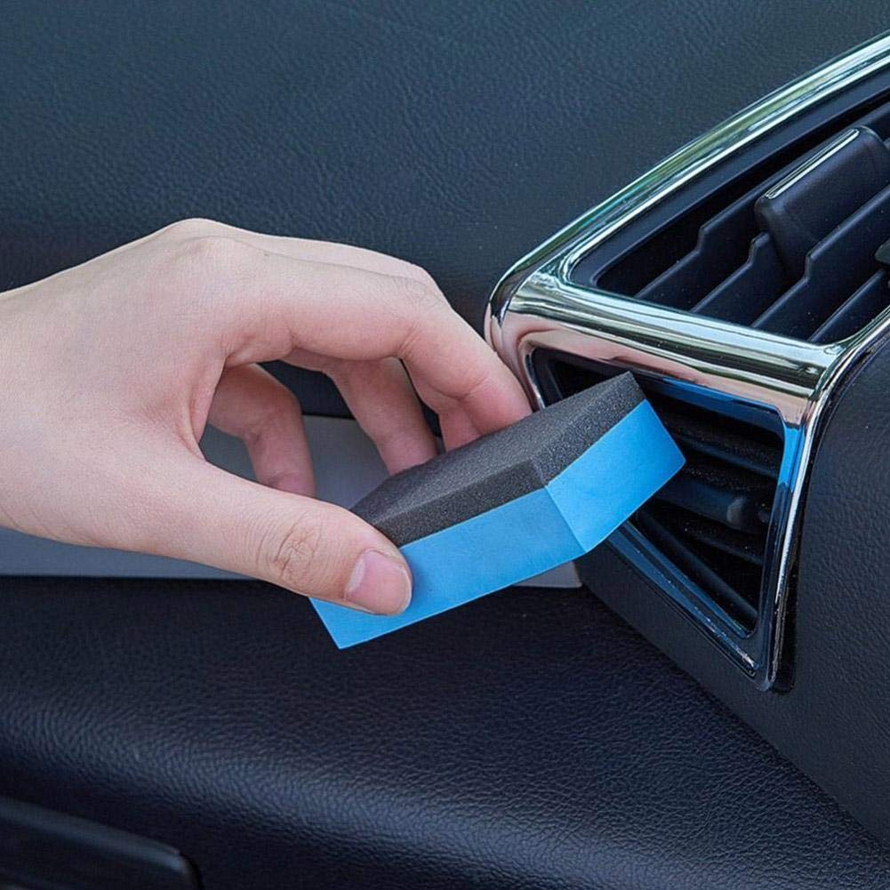 zhuyu 5pcs Wax Cleaning Car Coating Sponges Ceramic Glass Wash Foam Applicator Pad