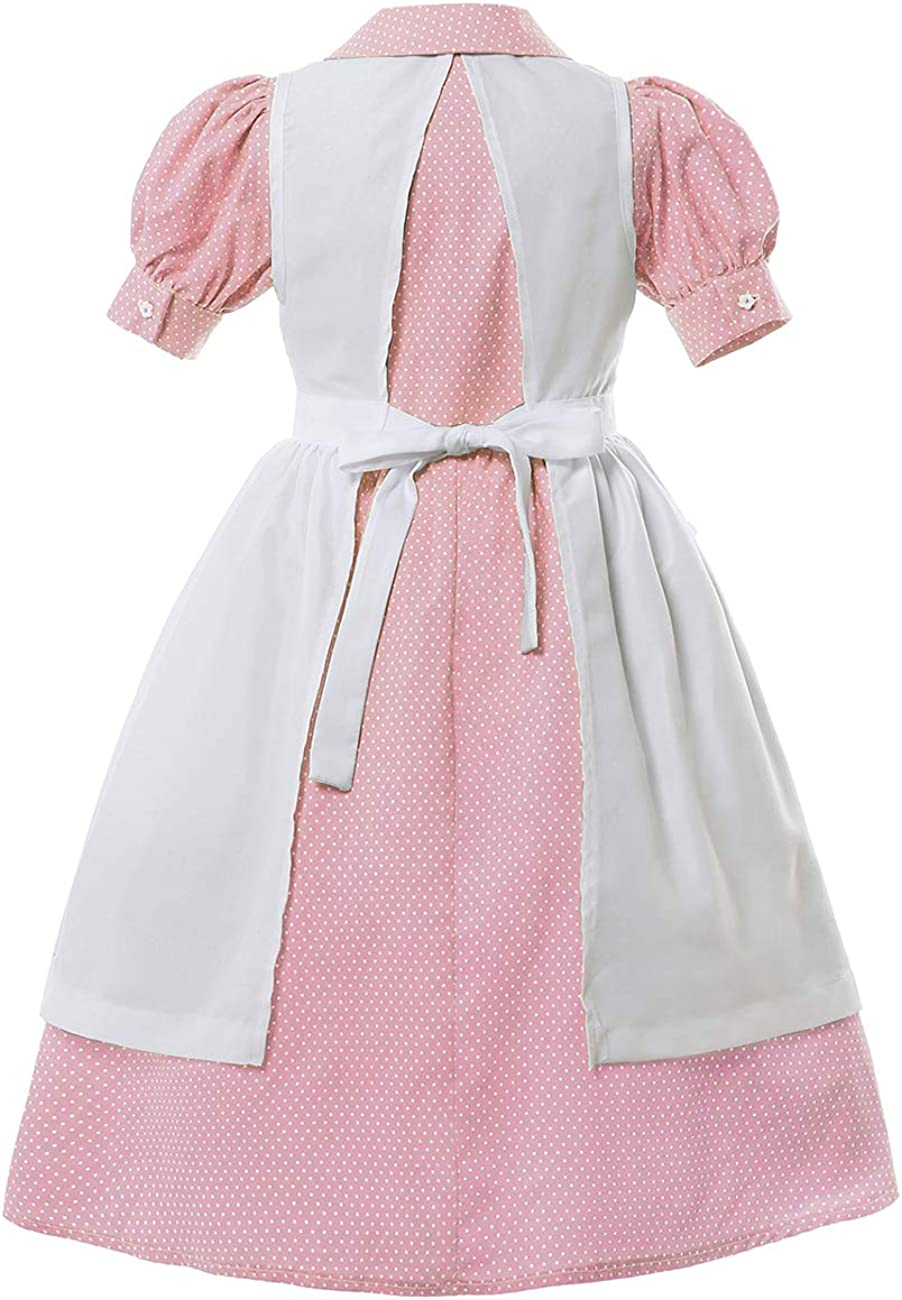 Prairie Pioneer Dress for Girls Laura Ingalls Wilder Colonial Costume Early American Girl Dresses