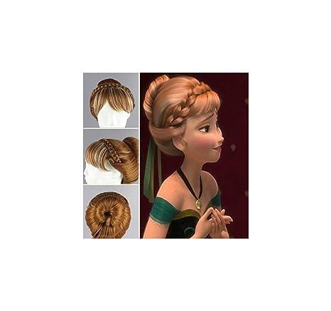 Frozen - Peluca coronación de anna alta calidad (niño-adulto)