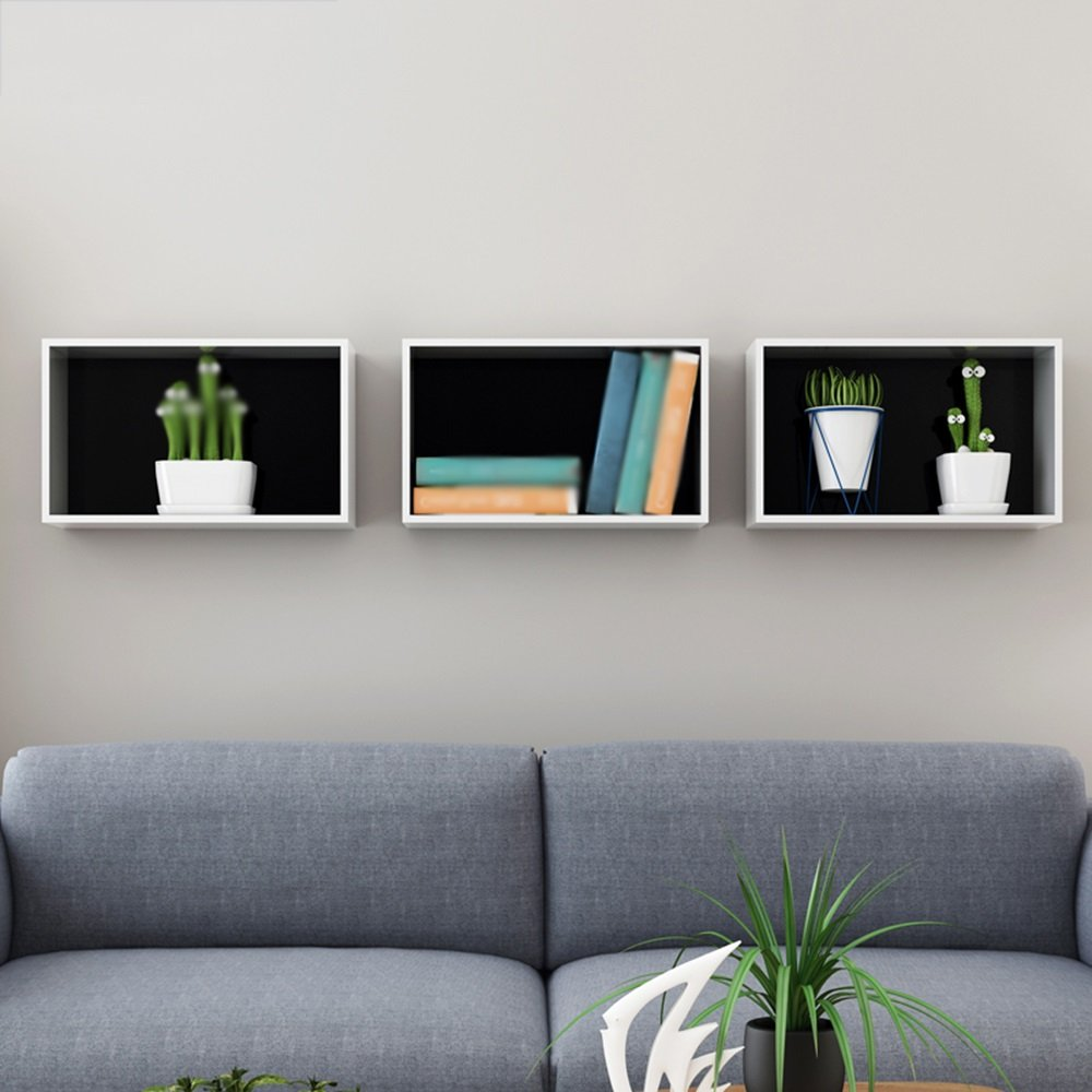 Wall shelves / lattice wall storage shelves / TV wall partitions / wall-mounted storage shelves / bookshelf shelf / wall pendant / DIY combination racks / (accounting for wall size can be adjusted)