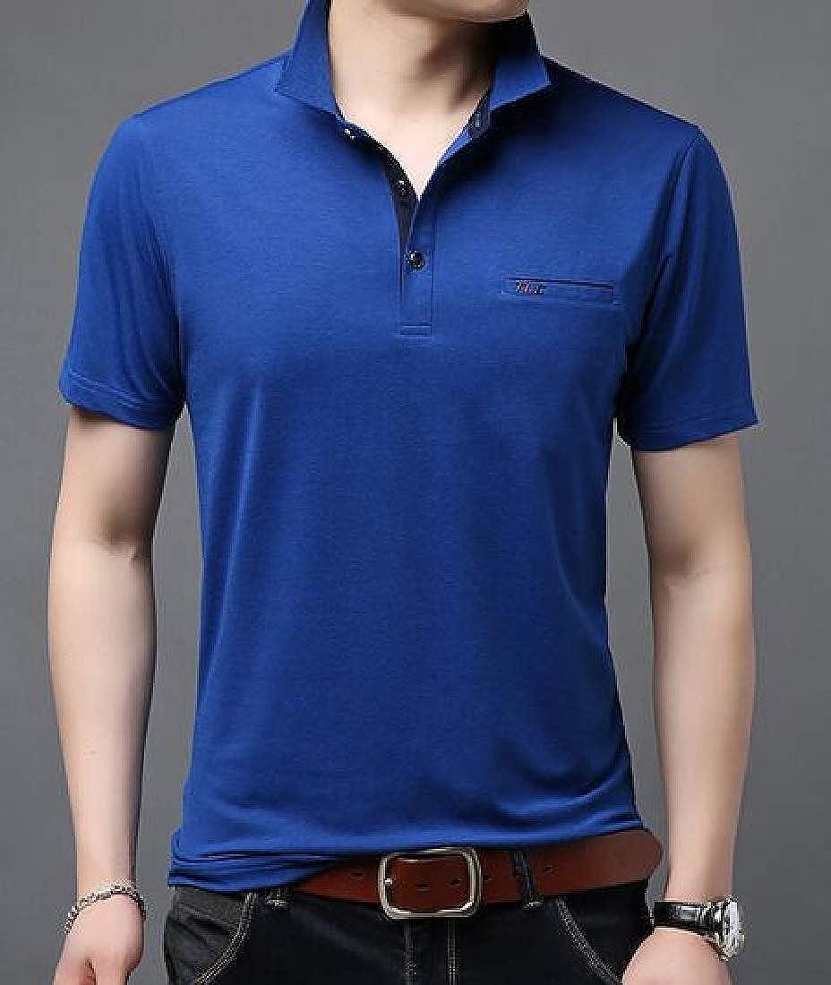 Joe Wenko Men Basic Tee Short Sleeve Polos Shirt Summer Top T-Shirt