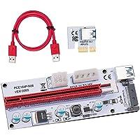 Bopfimer Adaptador de tarjeta Riser USB 3.0 PCE PCI-E Express de 1x a 16x GPU