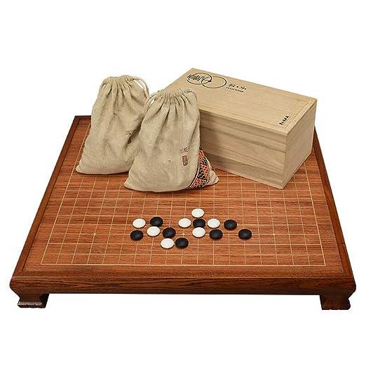 HQQ Go Set, Mesa de ajedrez de Madera de Madera de Palisandro con ...