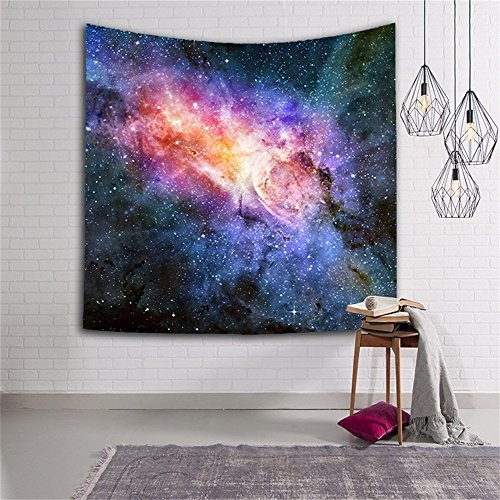 Nebula Tapestry Colorful Universe Galaxy and Stars Space Decor Tapestry, , Bedroom Living Room Dorm Wall Hanging Tapestry Mattress, Tablecloth (51