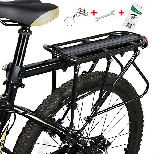WESTGIRL Adjustable Rear Bicycle Pannier Rack with Reflector Carrier Rack Frame-Mounted for Heavier Top & Side Loads Bike Cargo Racks