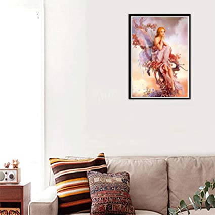 86ce3245e8672 Amazon.com: DDLmax DIY 5D Diamond Painting by Number Kit, Fairies ...