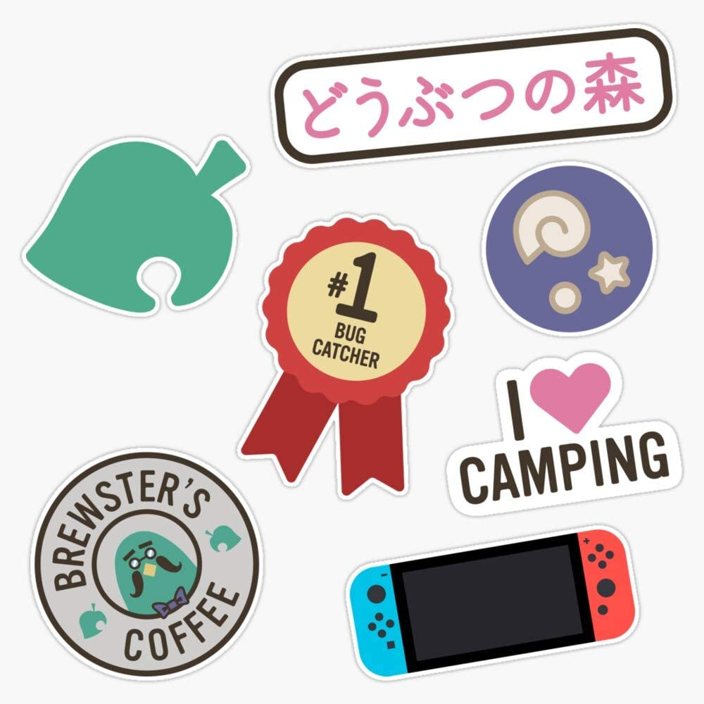 Animal Crossing New Horizons Pack Sticker Vinyl Decal Wall Laptop Window Car Bumper Sticker 5