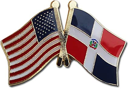 Flagline Dominican Republic   Friendship Lapel Pin