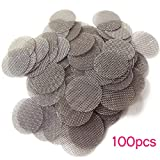 100 pcs Stainless Steel Tobacco Pipe Screens - 5/8 inch .625'' Size