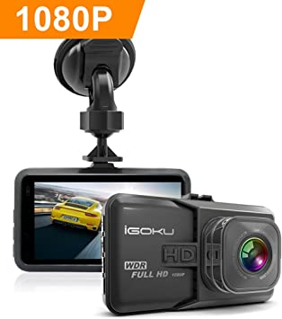 Coche Dash Cam Full HD 1296P en coche Dash Cam coche Blackbox c/ámara grabadora de conducci/ón con visi/ón nocturna G-sensor grabaci/ón en bucle 24/horas vigilancia WDR gran angular de 120/grados