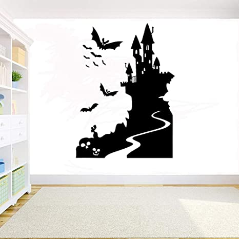 WSYYW Halloween Witch Castle Etiqueta de la pared Elf Bat ...