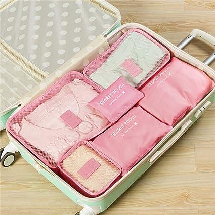 6 piezas de viaje Conjunto de bolsas de almacenamiento Ropa ...