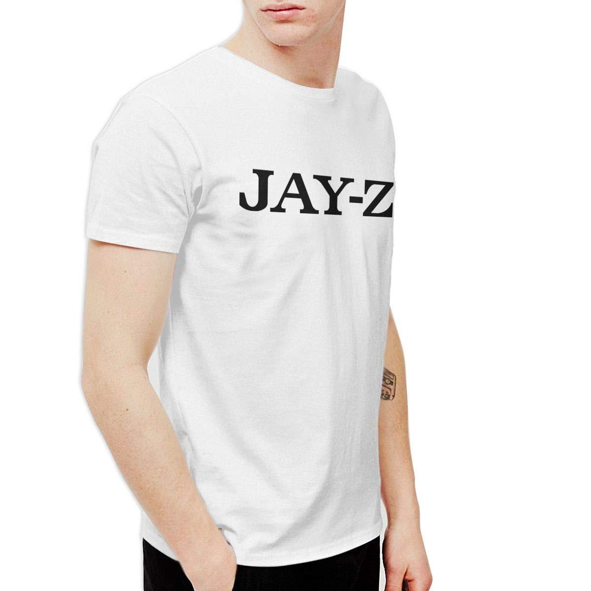 Ofctthlinw S Jay Z Logo Casual Style Jogging Shirt Short Sleeve 7336