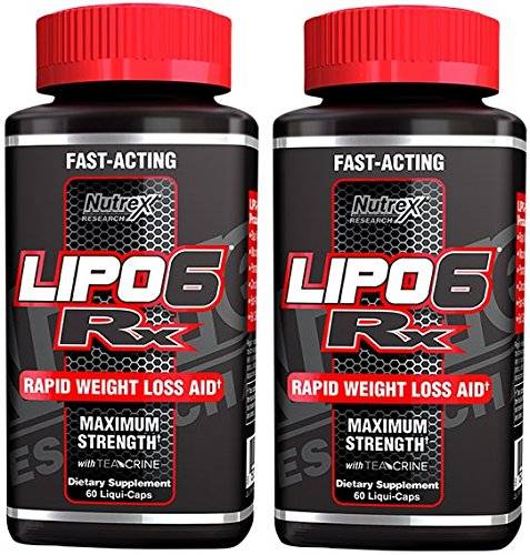 Nutrex Research Lipo-6 RX Supplement, 60 Count (60(pack of 2))