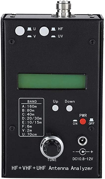 Hakeeta Analizador de Antena SWR AW07A HF VHF UHF Probador de medidor de Antena Analizador de impedancia SWR y RF simultáneamente para ...