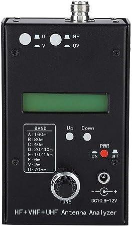 Analizador de antenas HF + VHF + UHF Analizador de antenas SWR Probador de medidores de antena Analizador de impedancia de RF con medidor L / C y ...