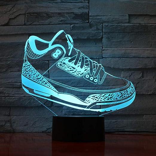 GYBYB Hombres Zapatos Baloncesto Luz nocturna 3D Sensor Led Niños ...