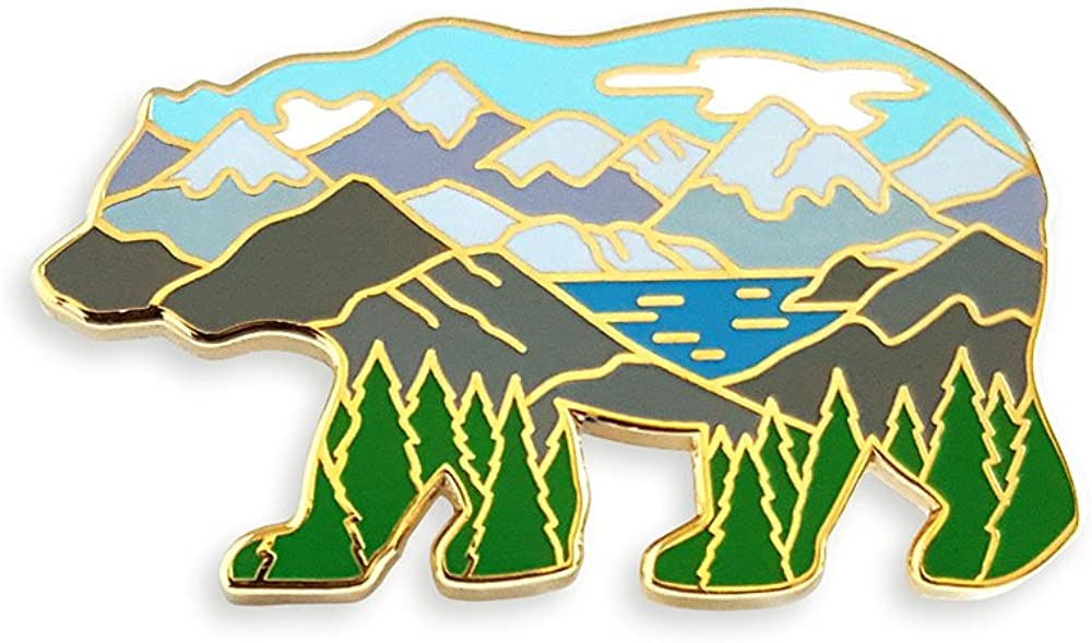 The Best Mountain Range Lapel Pin
