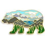 Pinsanity Bear 山地景观珐琅翻领别针