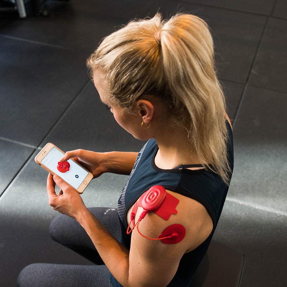PowerDot 2.0 - Smart Electric Muscle Stimulator - Duo - Red - App Controlled Wireless Electrical Muscle Stimulator for iOS and Android - Speed up Recovery, Improve Strength, Reduce Risk of Injury by Powerdot (Image #7)