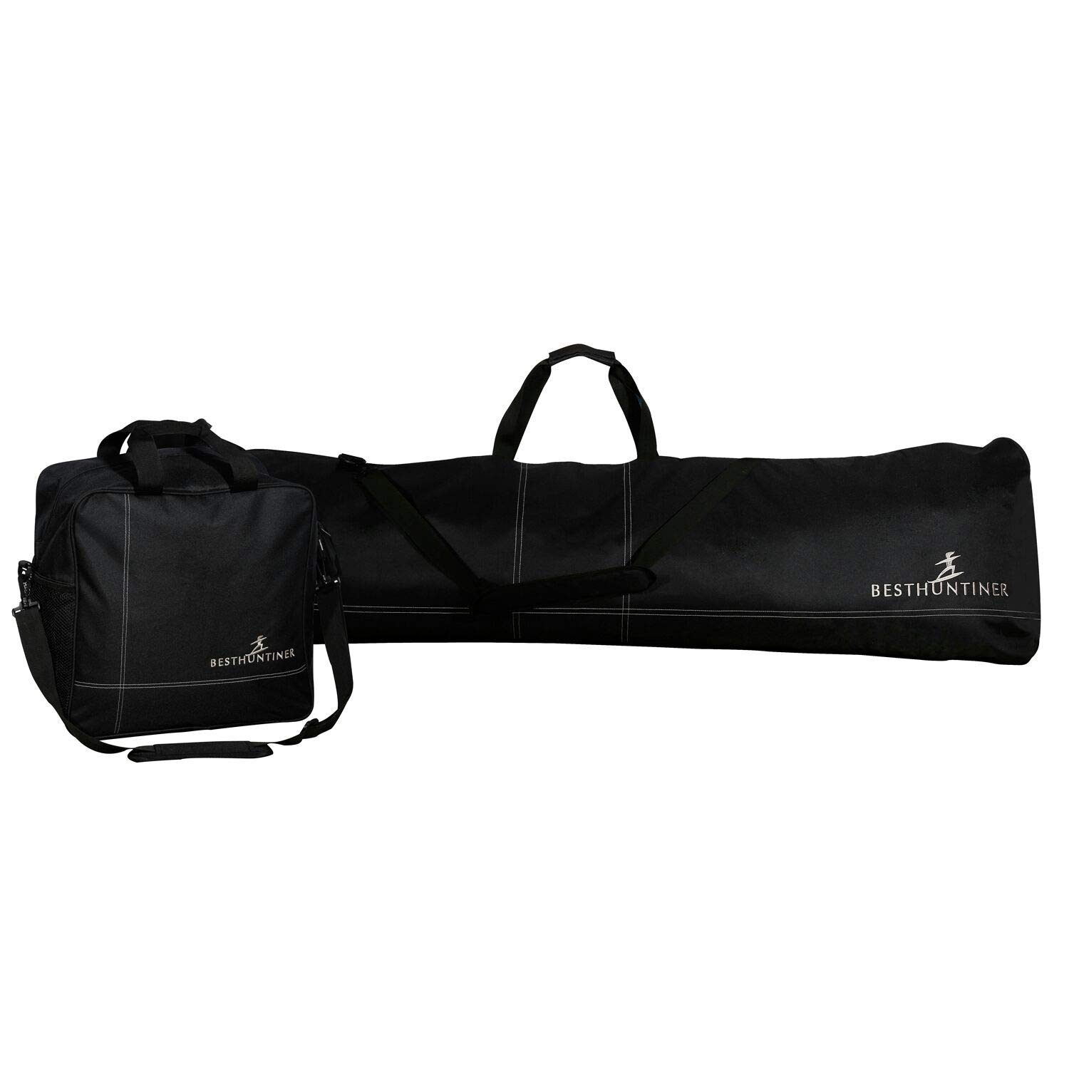 BESTHUNTIER Simple Black Snowboard Bag And Boot Bag No Padded Fitting Snowbaord Up To 167CM And Boot Size Up To 13.