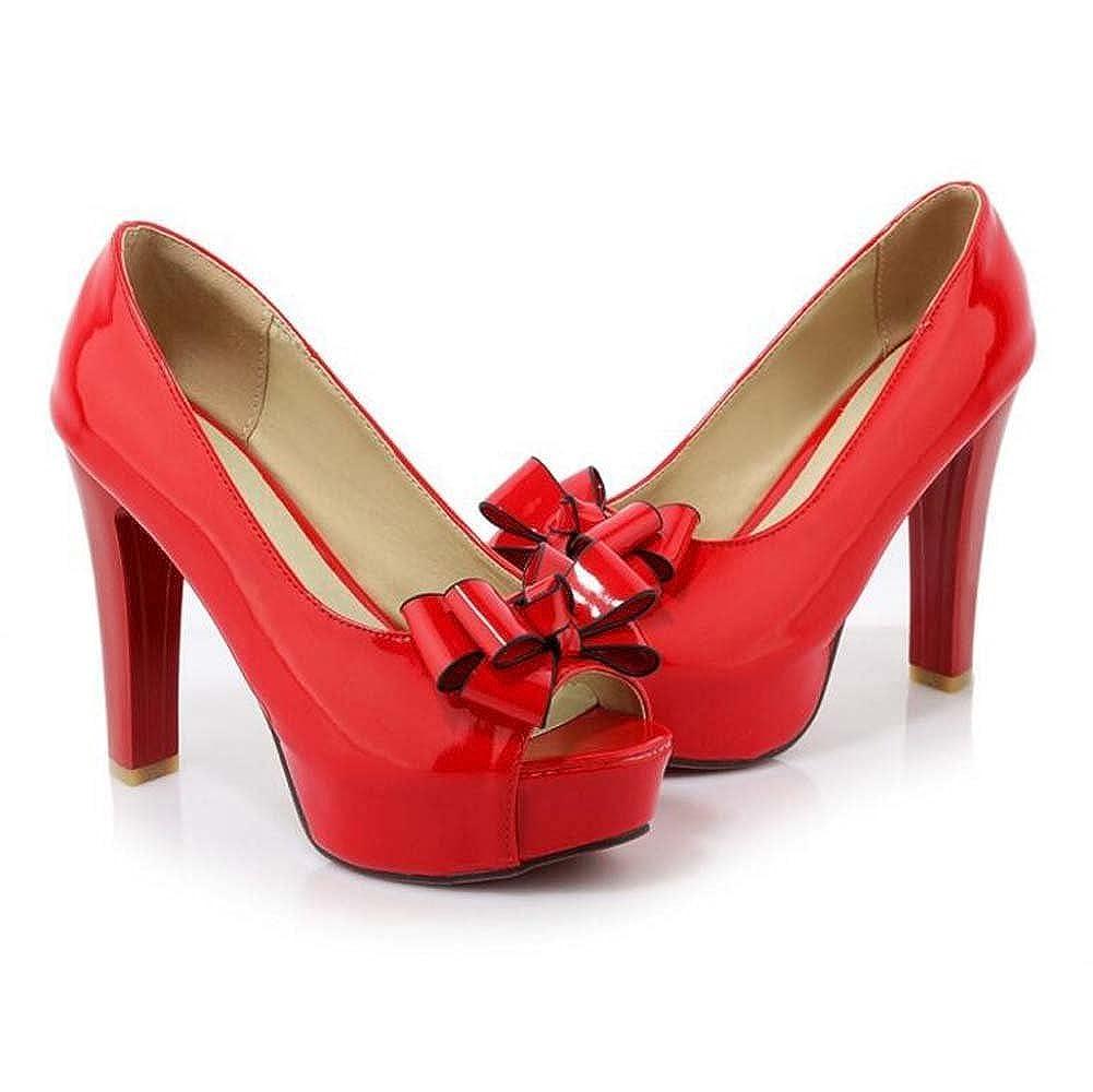 MYI Damen Peep Toe Schuhe Heels Heels Plateau Sandalen Rot Heels Outdoor/Kleid/Casual Schwarz/Rot Rot Sandalen 353854