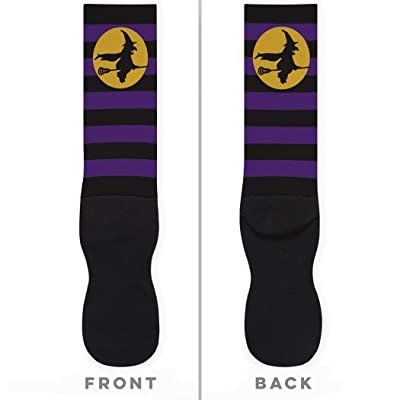 - Witch Riding Lacrosse Stick Printed Mid Calf Socks | Girls Lacrosse Socks by ChalkTalkSPORTS | Multiple Sizes
