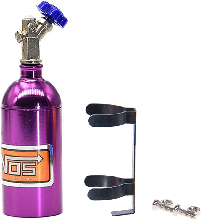 Silver Simulate Nitrogen Gas Cylinder RC Car Decor For 1//10 Vehicle Model