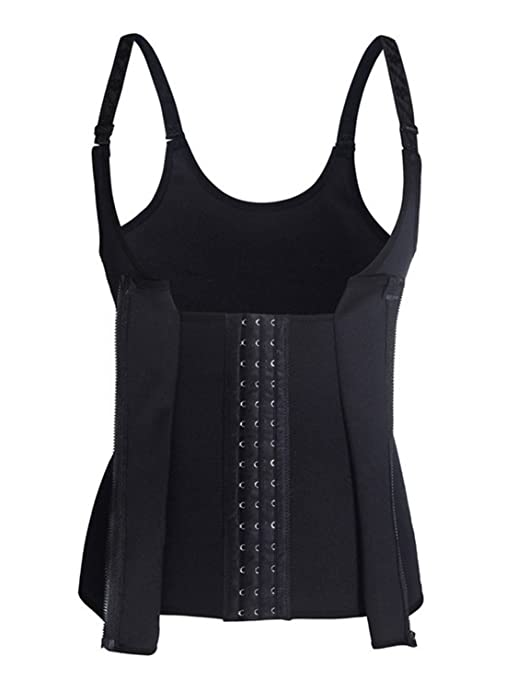 1c25e0eb77 Amazon.com  Malluo Waist Trainer Corset for Weight Loss Tummy Control Sport  Workout Corset Waist Body Shaper Black  Clothing