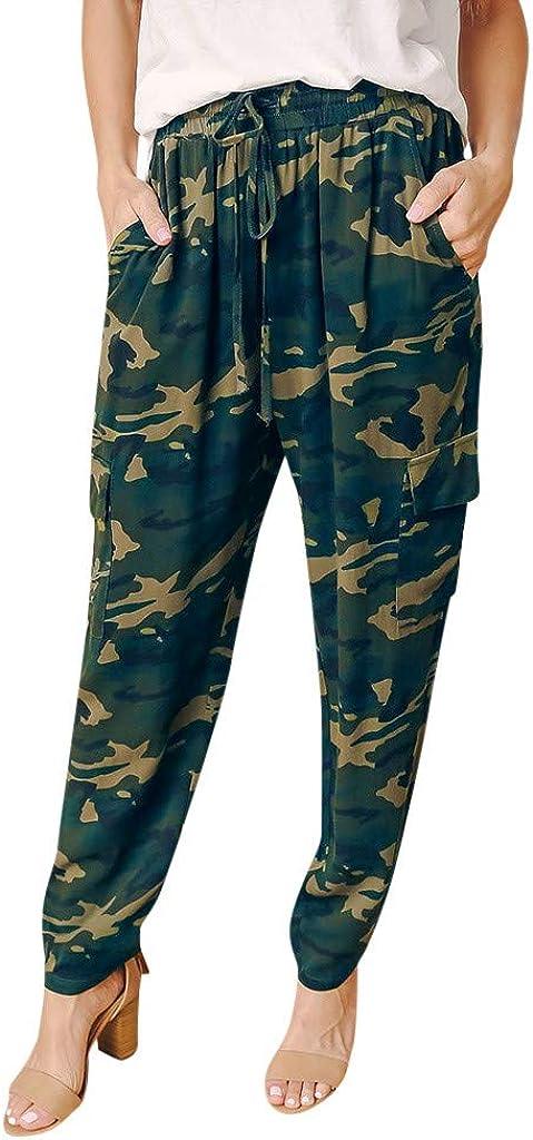 Pantalones Camuflaje Largos Para Mujer Anchos Verano Paolian Pantalones Chandal Vestir Cintura Alta Deporte Hippies Verde Accessorios De Viaje Equipaje