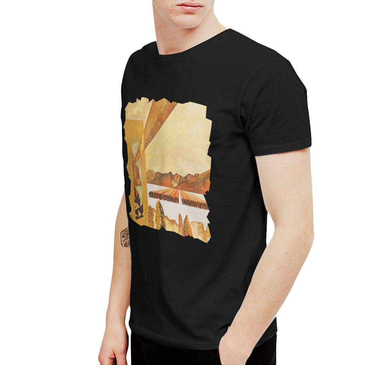 K-deio Stevie Wonder Innervisions Mens Tshirt Black