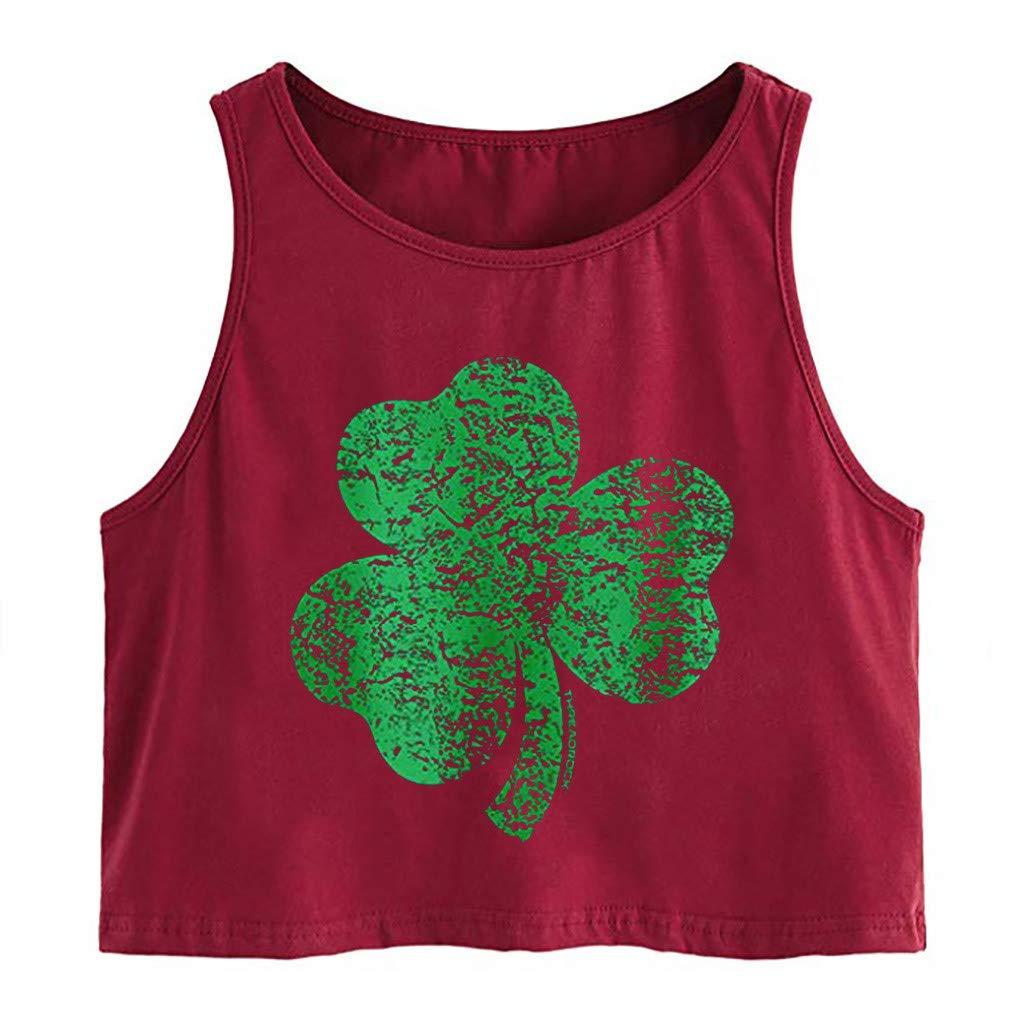 Mlide Women's Sleeveless Strap Print Tank Top Solid Fashion Top O-neck Sling Vest Tank Shirt