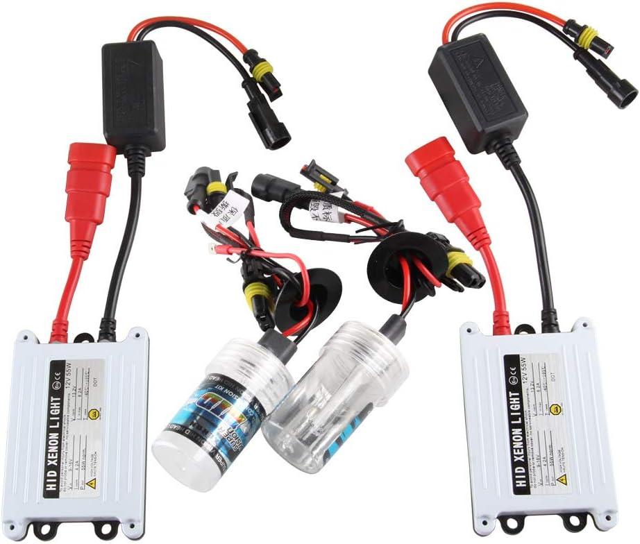 Chemini Kit di conversione faro allo xeno H7 HID 6000K xenon bianco 55W ultra sottile alimentatore digitale HID per fari abbaglianti//anabbaglianti