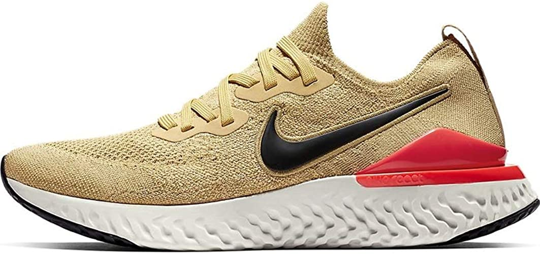 para toda la familia mejor lindo baratas Amazon.com | Nike Men's Epic React Flyknit Running Shoes Gold 9.5 ...