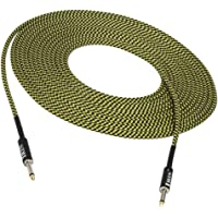 6,35 mm jack gitaar basverbinding kabel draad connector - geel
