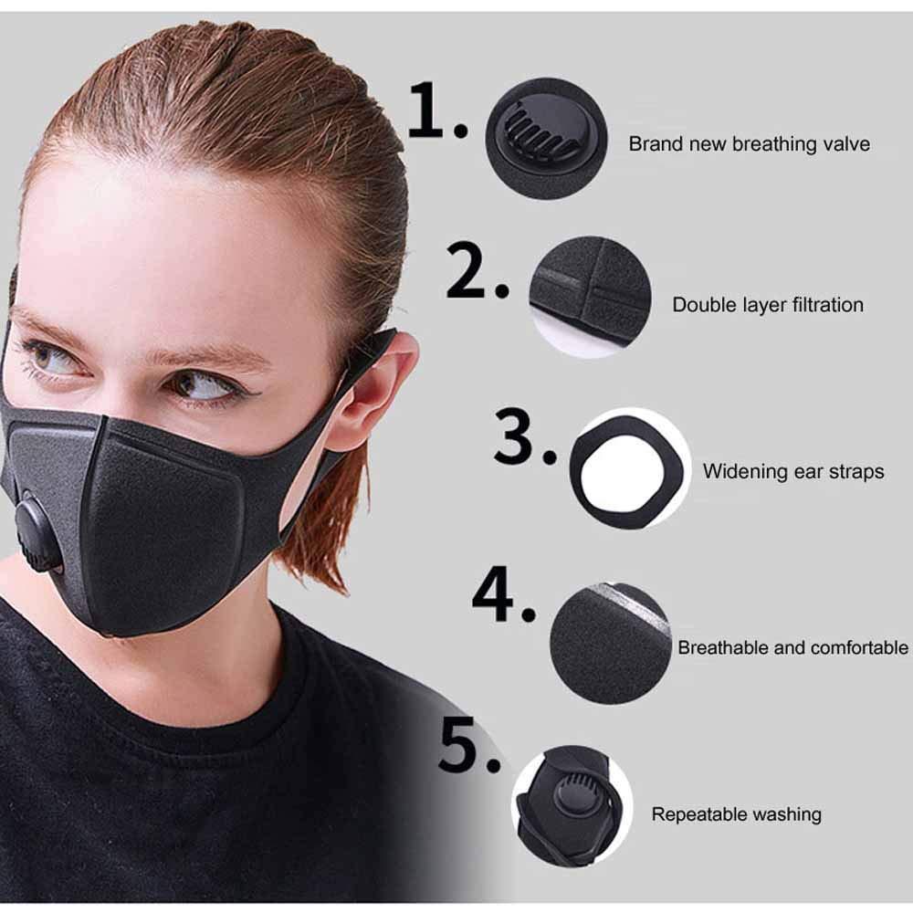 HCCX Polvere Contaminato E Le Maschere di Fumo Contaminati con Maschere Respiratorie Lavabili Regolabili