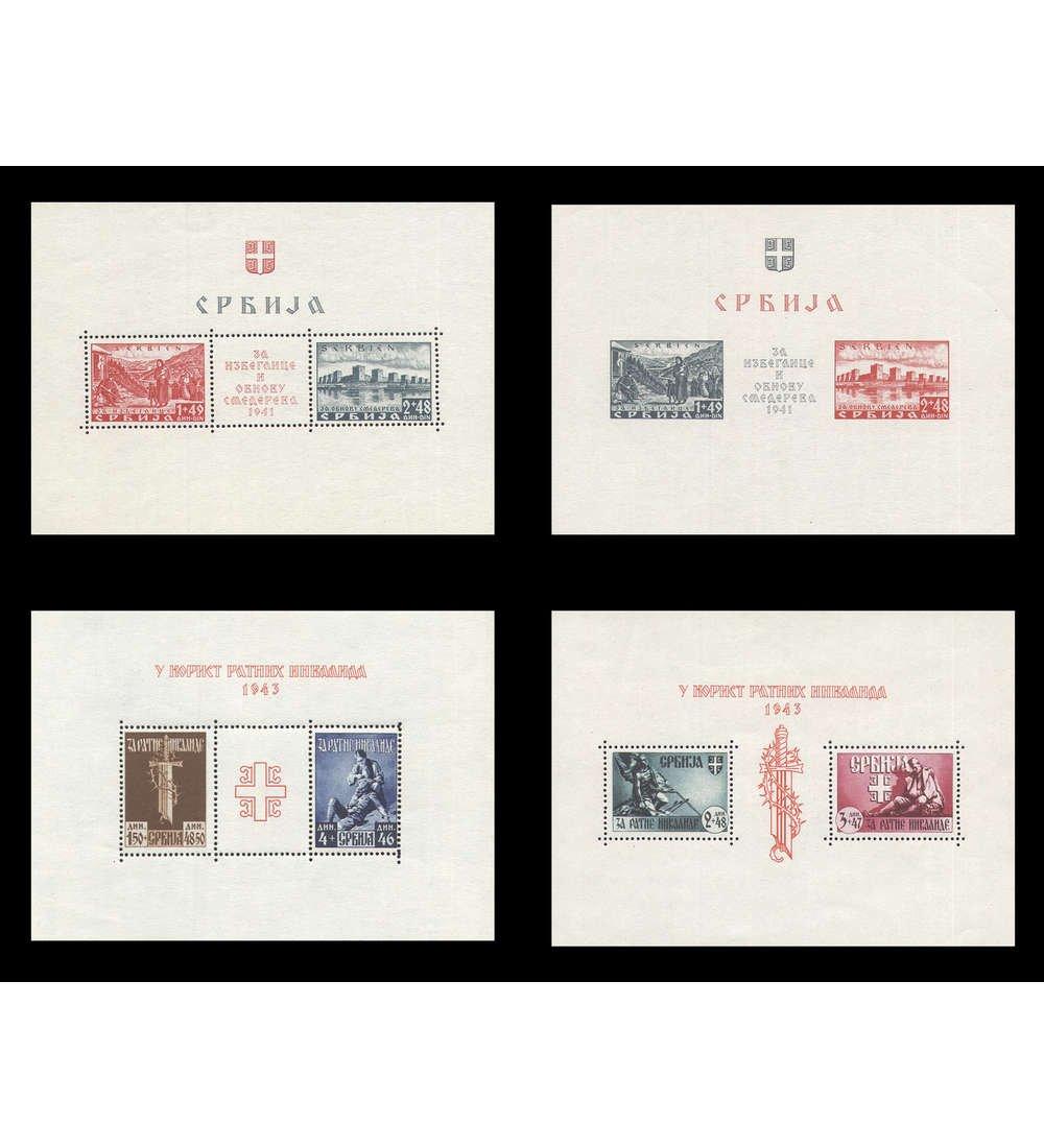 Goldhahn Deutsche Besetzung Serbien Block 1-4 postfrisch  Briefmarken für Sammler