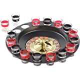 Ohuhu Shot Glass Roulette Drinking Game Set (2 Balls and 16 Glasses)