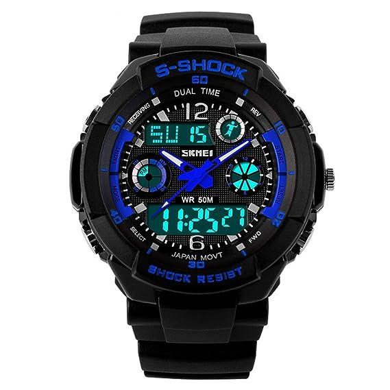 TONSHEN Digital Deportivo Dial Time Relojes de pulsera Para Hombre y Chico LED Electrónica Al Aire