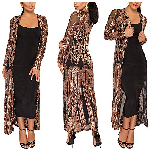 - AIDEAR Women's Sequin Loose Casual Open Front Cardigan Coat Dress Summer Party Prom Sweater