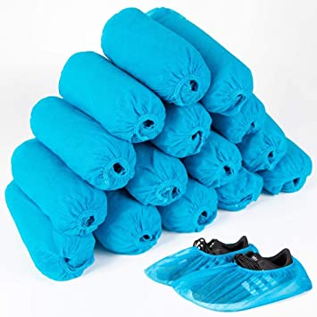 100Pack Home Disposable Shoe Covers Elastic Foot Feet Cover Dustproof Non-slip