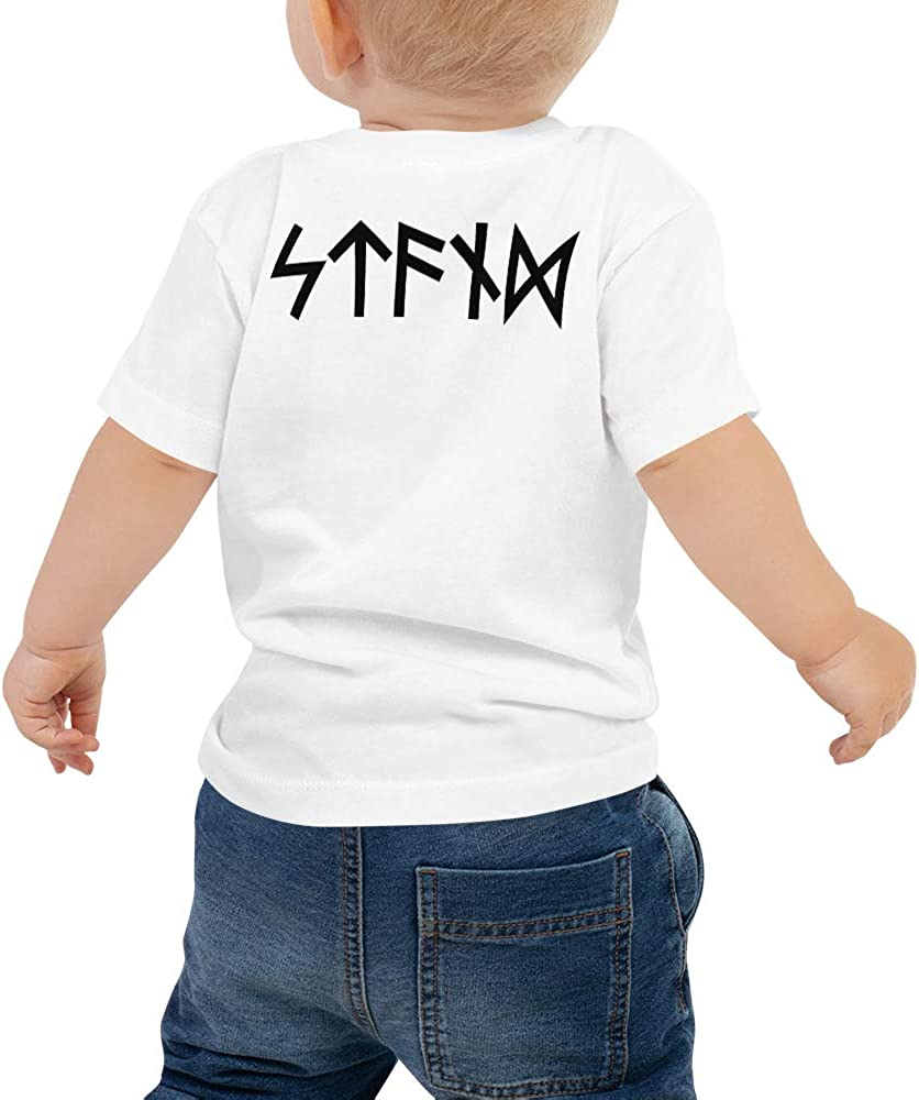 Baby Jersey Short Sleeve Tee Black STFND Logo Only