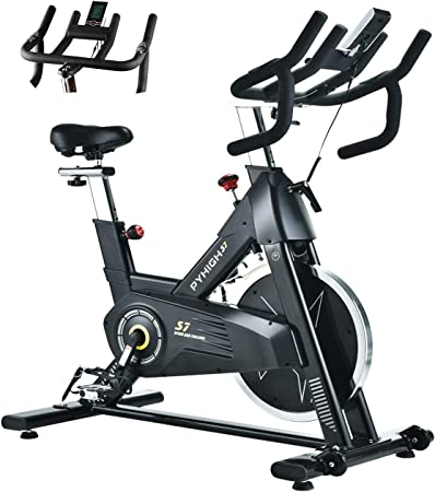 for Office Home Exercise Bike Stable And Safe Home,Black Mute Adjustable Handlebars /& Seat Height Indoor Cycling Spin Bike