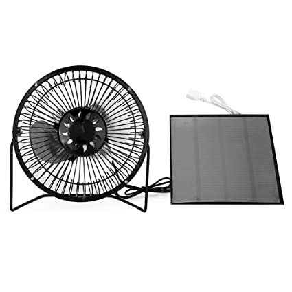 Zerodis USB Solar Powered Fan Mini Portable Air Conditioner Cooling  Ventilation Fans for Traveling Fishing Camping Hiking Backpacking BBQ Baby