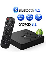 Android 8.1 TV Box, Android Box 4 GB RAM 64 GB ROM, Livebox HK1 MAX RK3328 Quad Core 64 bit Smart TV Box, Wi-Fi-Dual 5G/2.4G, BT 4.1, Box TV UHD 4K TV, USB 3.0
