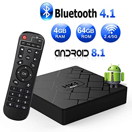 tv box android 8.1 4gb 64 gb wifi 5  Android 8.1 TV Box with 4GB RAM 64GB ROM RK3328 Bluetooth 4.1 Quad ...