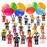 Deals with Service 20 Easter Eggs with 20 Mini Toy Boy and Girl Figurine Toys
