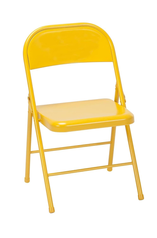 Sensational Amazon Com Novogratz 14714Ong2E Steel Folding Chair Inzonedesignstudio Interior Chair Design Inzonedesignstudiocom